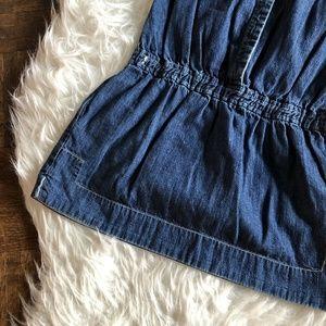 Crewcuts Dresses - Crewcuts J Crew Girls Sz 5 Denim Drop Waist Dress